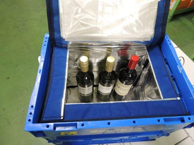 保管ボックスに入ったワイン