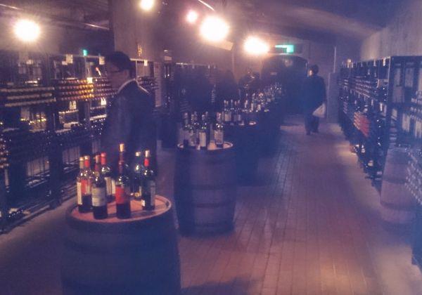 勝沼のワインが殆ど全て購入できる地下ワイン貯蔵庫。専用のタートヴァン(有料:1100円)で試飲もできます。